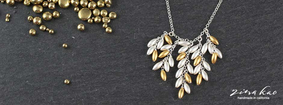 Waterfall Rice Necklace
