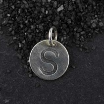 Embossed Initial Disc Charm