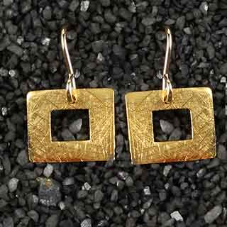 Rectangle Ring Earring (e-crr0)