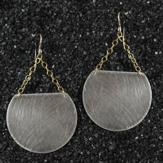 Large Trimmed Disc Earring (e-d200)