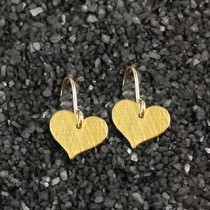 Flat Small Heart Earring