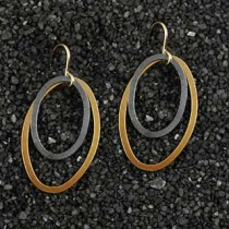 Double Flat Oval Earrings (SM)
