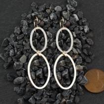 Double Flat Oval Earring