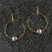 Ring and Ball Earring