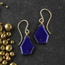 Lapis Crazy Cut Earring