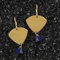 Arrowhead and Lapis Earring