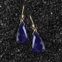 Lapis Triangle Earring
