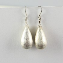Brushed Tear Earring