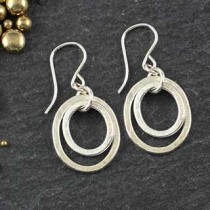 Stacked Mixed Oval Earring