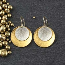 Double Organic Disc Earring: Med