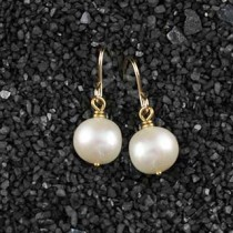 Simple Pearl Earring: Small