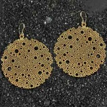 Large Dotty Disc Earrings