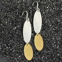 Big over Little Oval Earring
