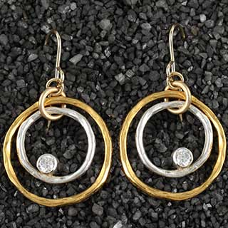 Concentric Rings Twiggy Earring (e-tgs4)