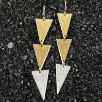Three Large Triangle Earring