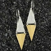 Double Large Triangle Earring