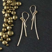 Double Hammered Wire Earring