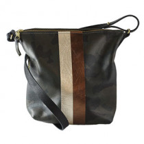 Graham Leather Crossbody w/2stripes
