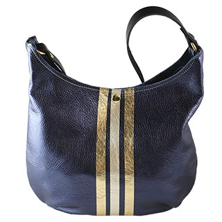 Powell Leather Shoulder Bag (l-95dm-3stripe)