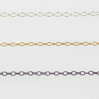 Plain Larger Loop Chain Necklace (n-188)