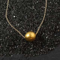 Single Round Threaded Necklace
