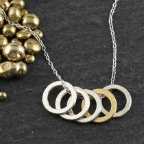 Baby Geo: 5 Ring Necklace