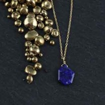 Crazy Cut Necklace: Lapis
