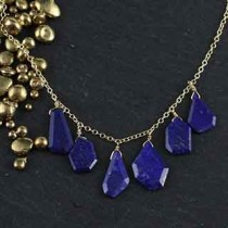Multi Lapis Crazy Cut Necklace