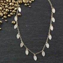 Multi Tiny Marquise Necklace