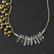 Crystal, Pearl and Bead Necklace