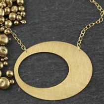 Punched Oval Necklace: Large