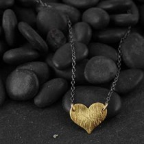 Flat Medium Heart Necklace