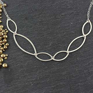 Flat Marquise Necklace #6 (n-fm06)