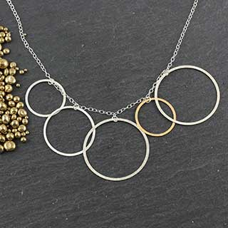 Multi-Flat Ring Necklace (n-fr95)