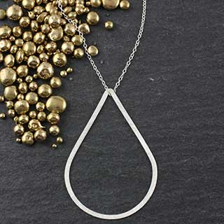 Flat Tear Necklace: #3 (n-ft03)