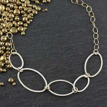 5 Flat Oval Necklace