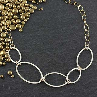 5 Flat Oval Necklace (n-fv50)