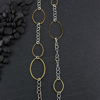 Long Multi-oval Necklace (n-fv96)