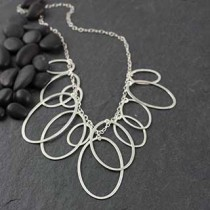 Multi Flat Oval Necklace