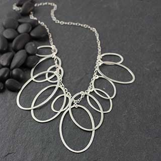 Multi Flat Oval Necklace (n-fv99)