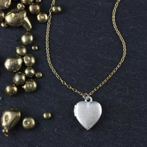 Tiny Heart Locket Necklace