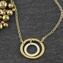 Heavy Double Oval Necklace