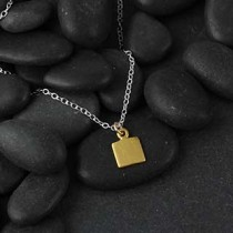 Itty Bitty Flat Square Necklace