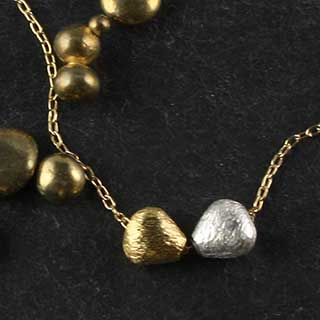 Double Micropear Necklace (n-mmp2)