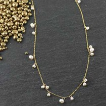Mixed Pearl Cluster Necklace