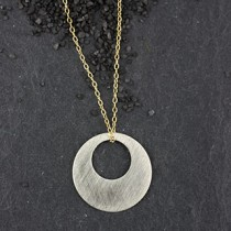 Large Round Punch Necklace
