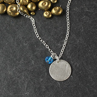 Small Dot and Rondelle Necklace (n-si21)