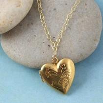 Heart Floral Locket Necklace