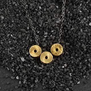 "Three Sm ""O"" Threaded Necklace (n-sps3)"