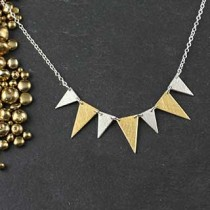 7 Mixed Triangle Necklace
